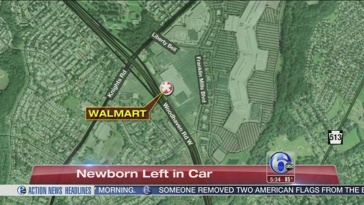 VIDEO: Infant left in SUV outside NE Philly Walmart
