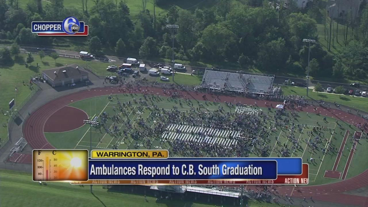 Ambulances respond to CB South graduation