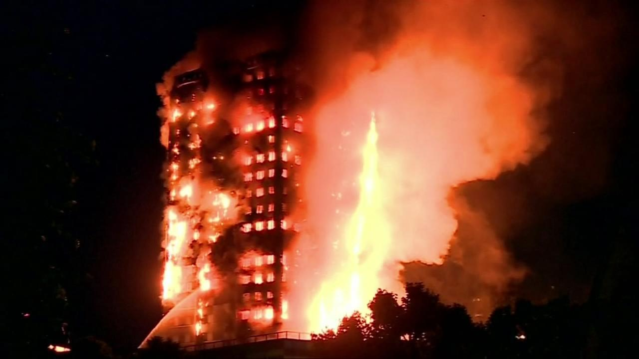Deadly apartment fire in London