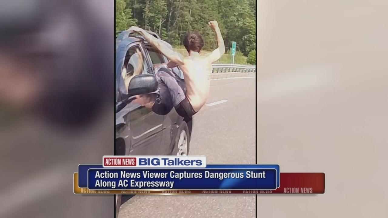 Dangerous driving stunt caught on camera along Atlantic City Expressway