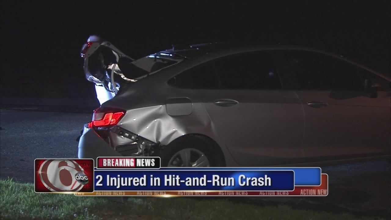 2 hurt in hit-and-run crash