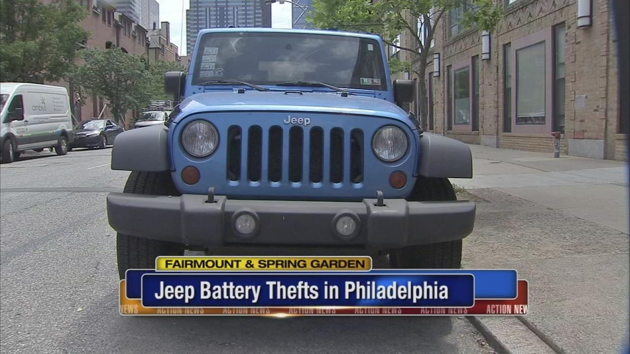 Jeep battery thefts in Philadelphia