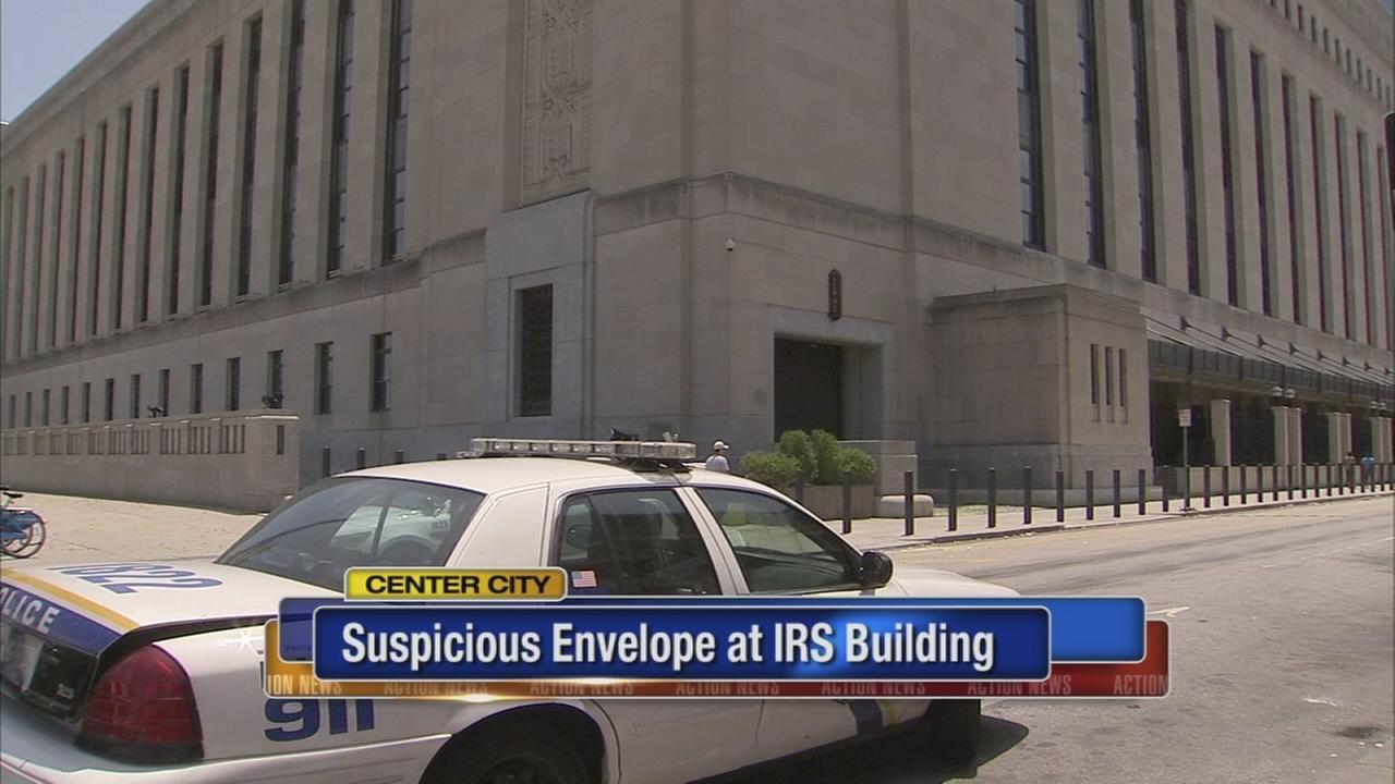 Suspicious envelope at IRS building