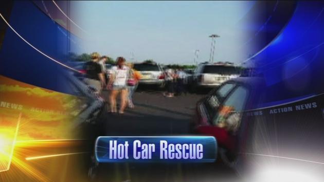 VIDEO: Infant left in car in NE Phila.