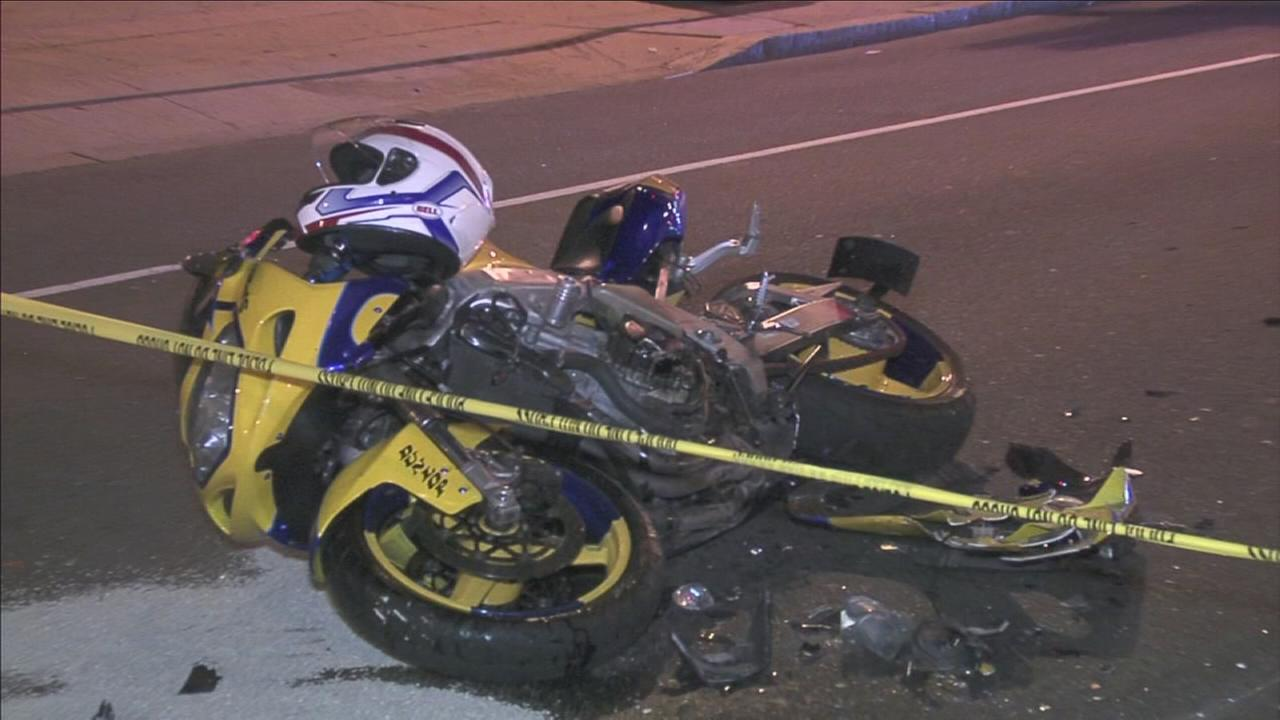 VIDEO: Motorcycle passenger injured in Broad Street crash