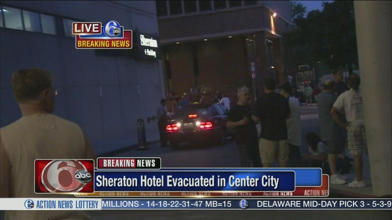 VIDEO: Smoke forces evacuations at Sheraton Hotel in Center City