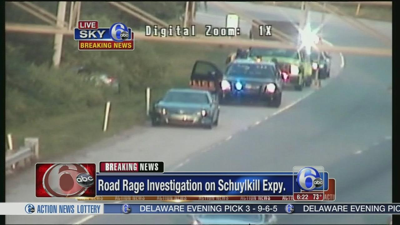 VIDEO: Road rage investigation on Schuylkill Expy.
