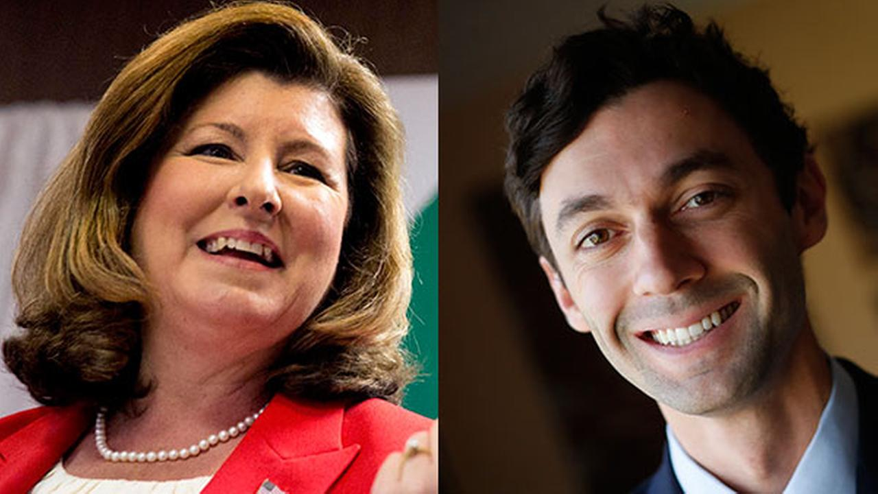 Republican candidate for Georgias Sixth Congressional seat Karen Handel / Democratic candidate for Georgias Sixth congressional district Jon Ossoff