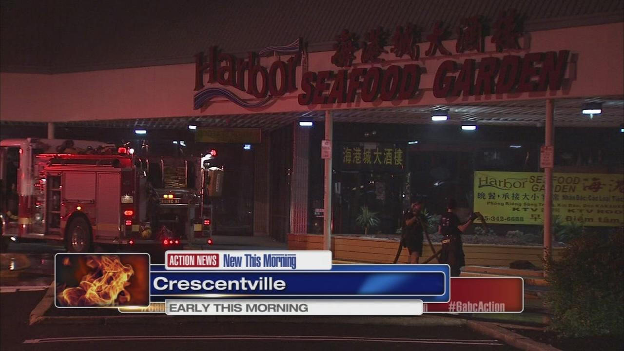 Fire damages restaurant in Crescentville