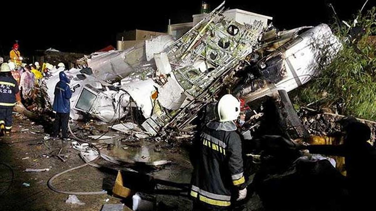 Plane crashes in Taiwan