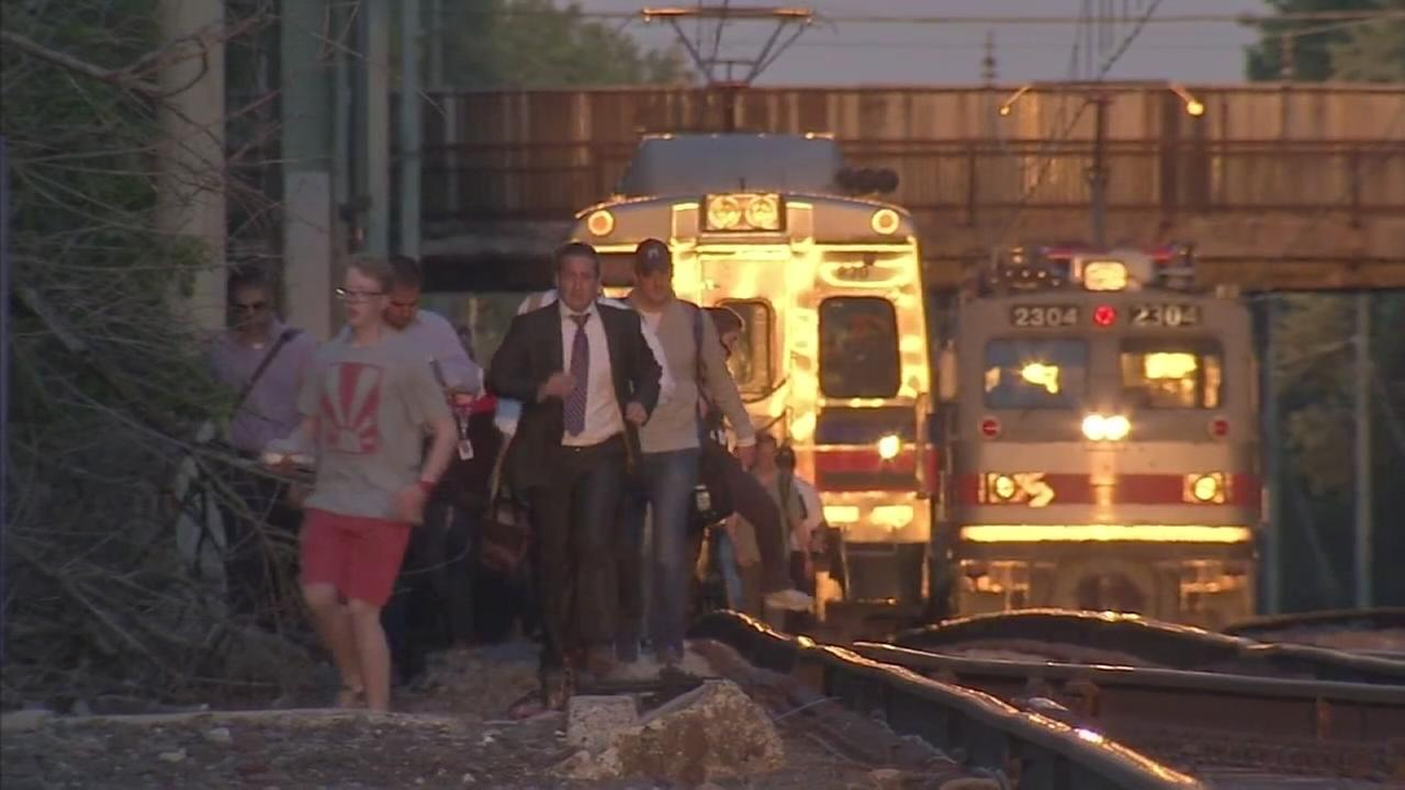 Hundreds of commuters stranded across the regional rail system