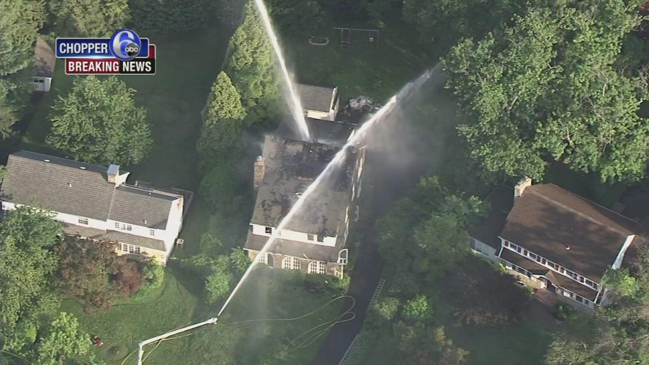 Fire damages home in Abington Twp., Pa.