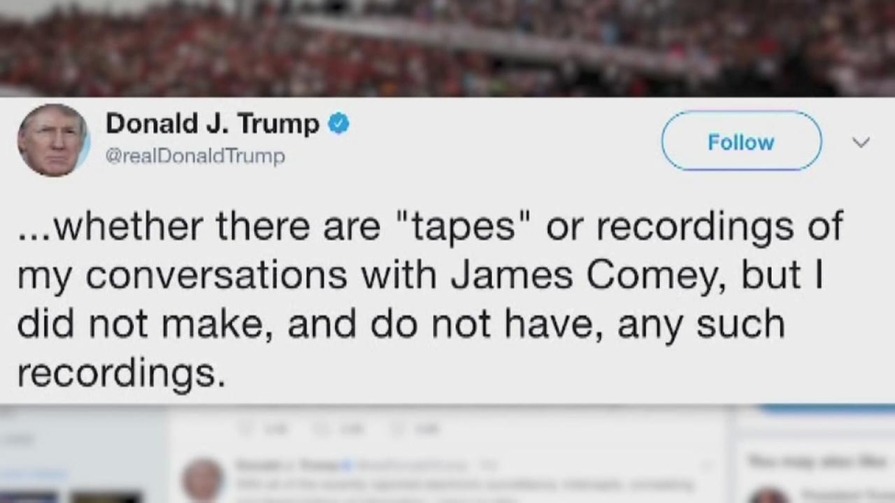 VIDEO: Trump says he has no recordings of Comey conversations