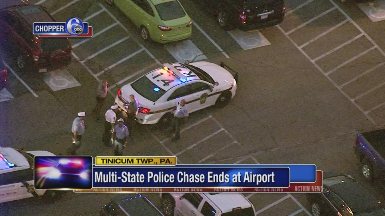 Multi-state police chase ends at airport