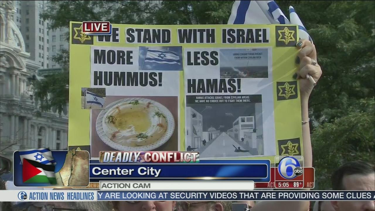 VIDEO: Stand with Israel rally in Love Park