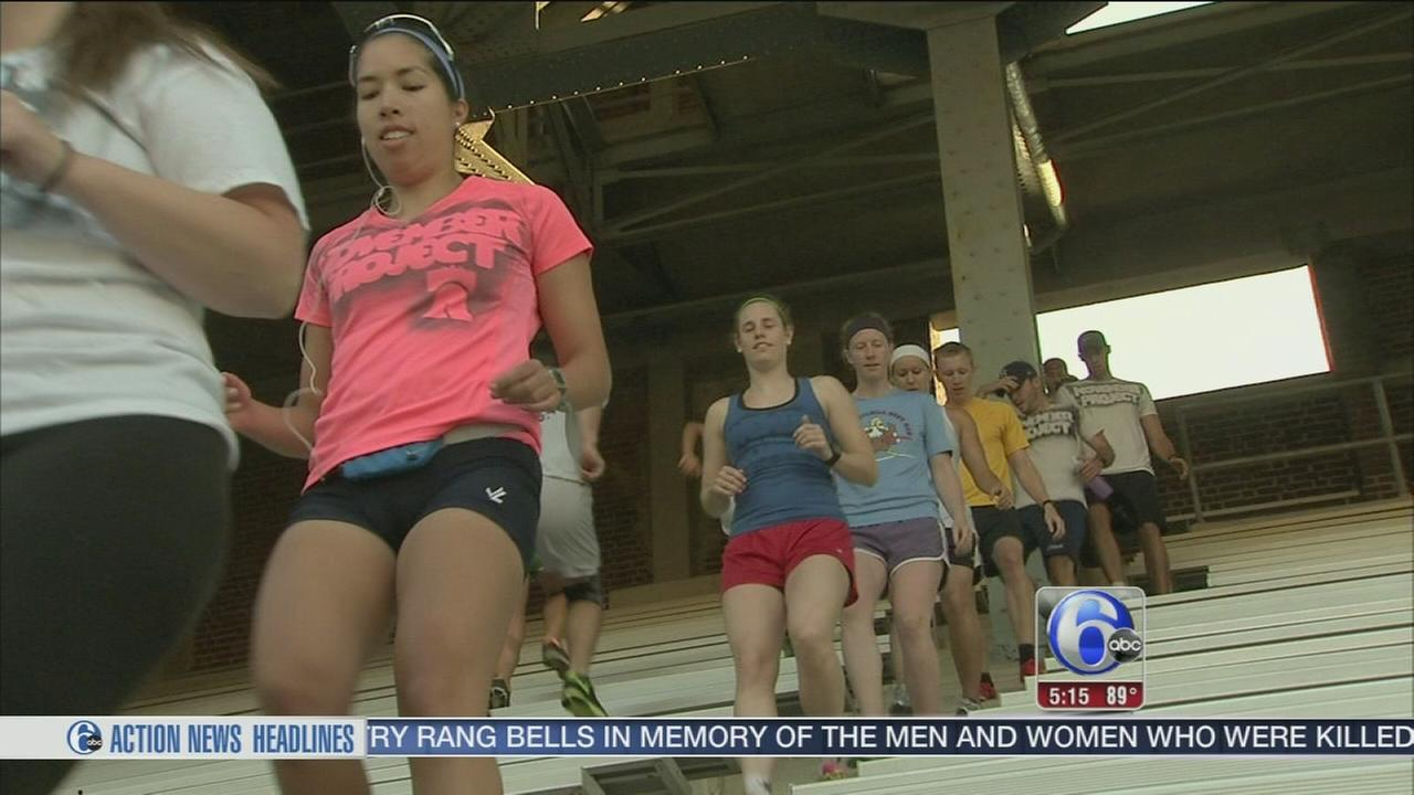 VIDEO: Fun, FREE workout at Franklin Field and the Art Museum