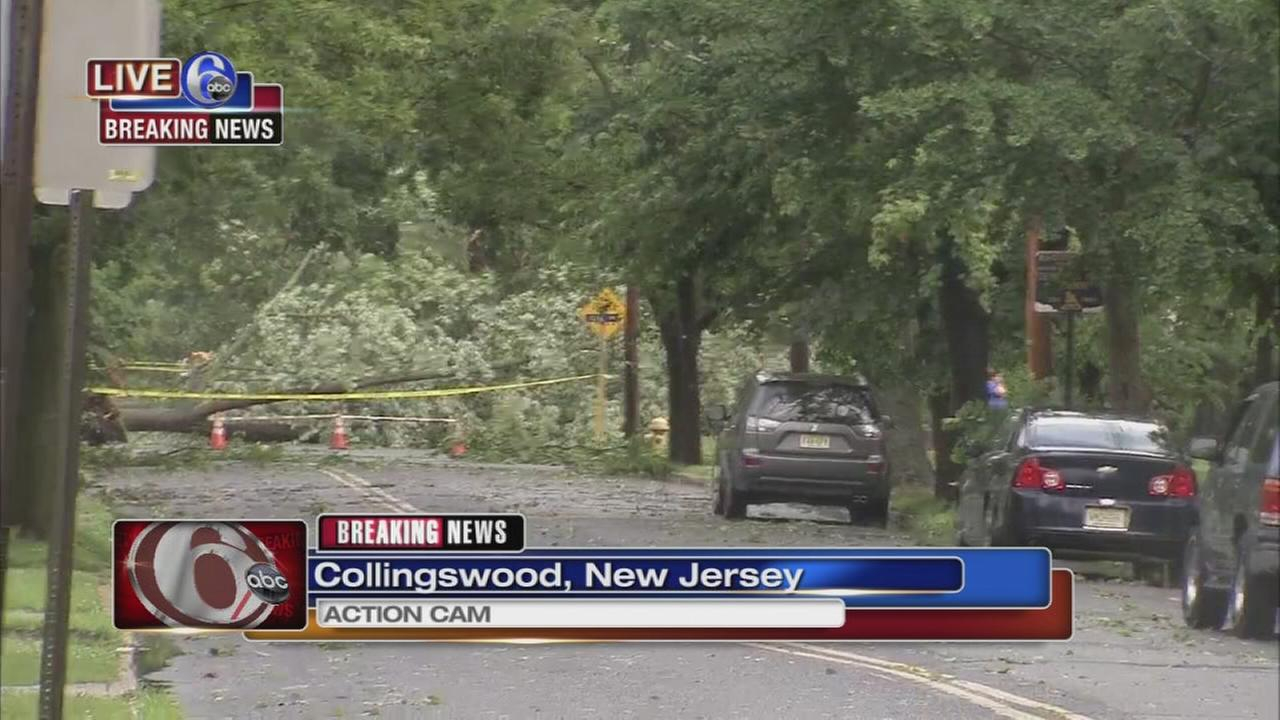 Storm damage in South Jersey