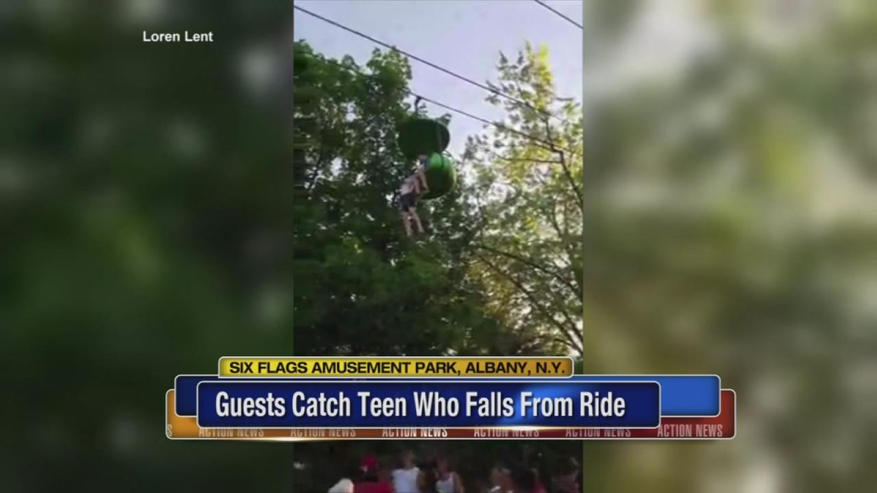 Sheriff: Teen injured after fall from Six Flags Sky Ride