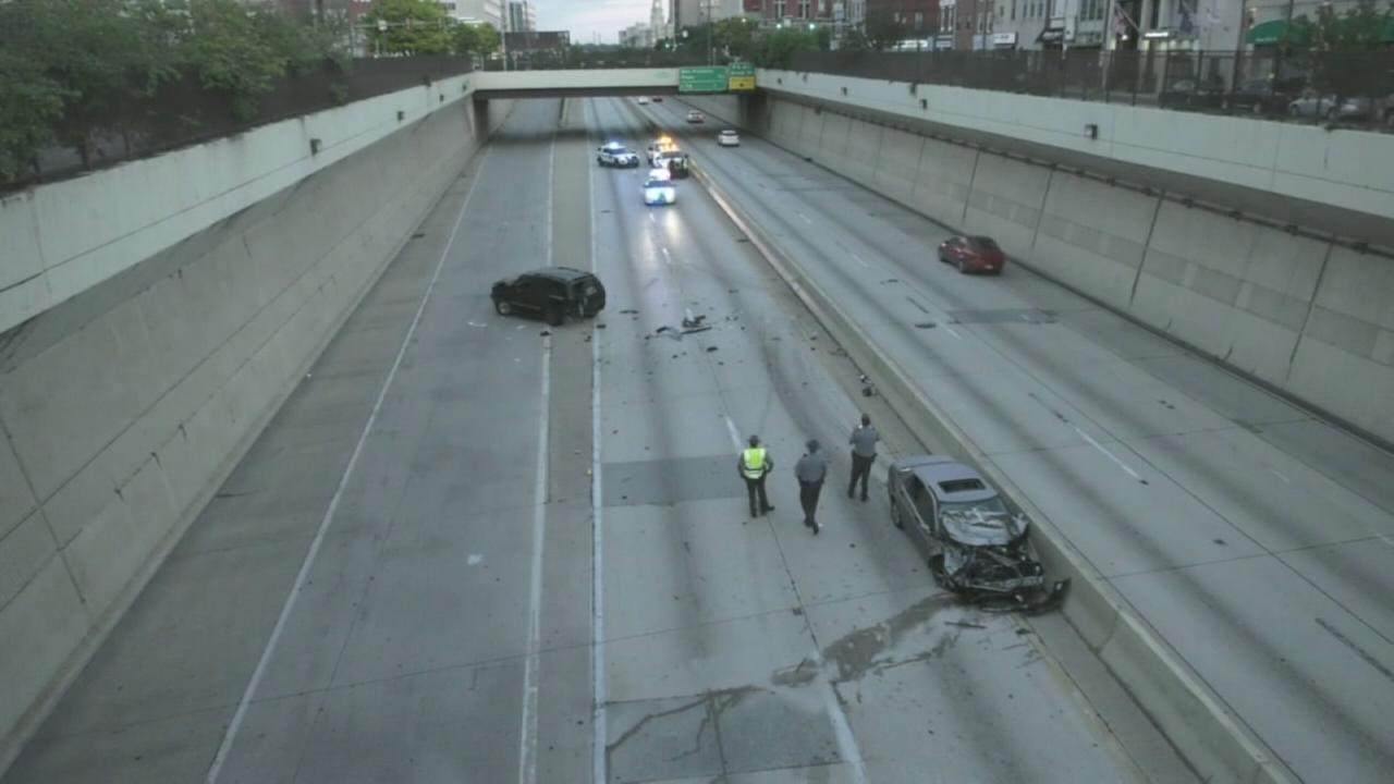 Deadly crash on Vine Street Expressway