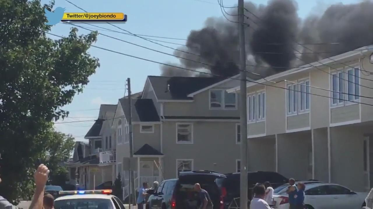 Firefighters battle massive house blaze in Cape May Co.