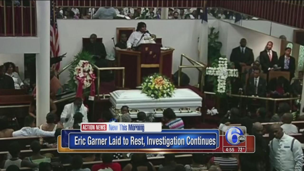 VIDEO: Funeral held for man who died in NY police custody