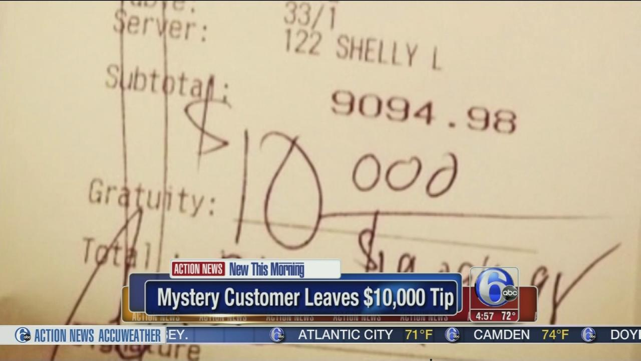 VIDEO: Mystery customer leaves a $10,000 tip after big bill