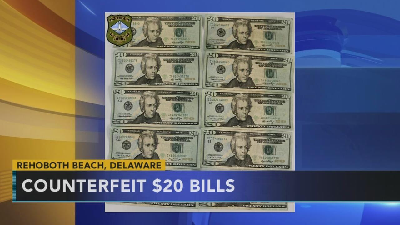 Counterfeit bills in Delaware