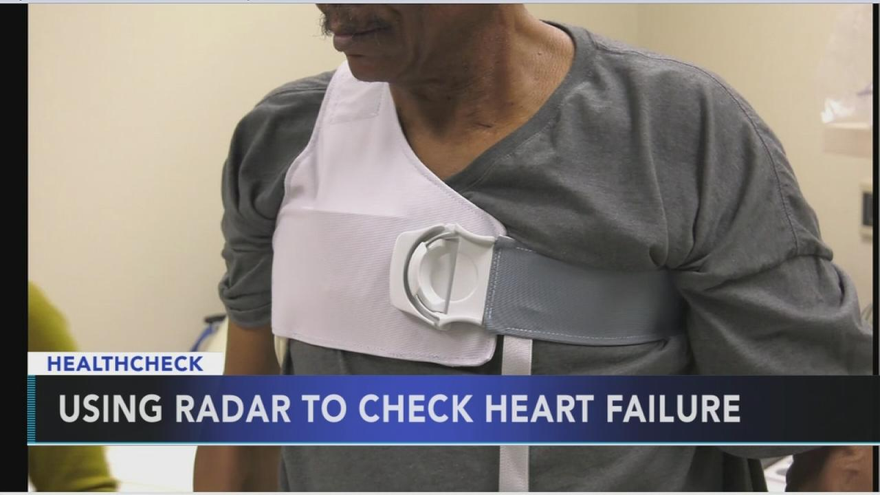 Using radar to check heart failure