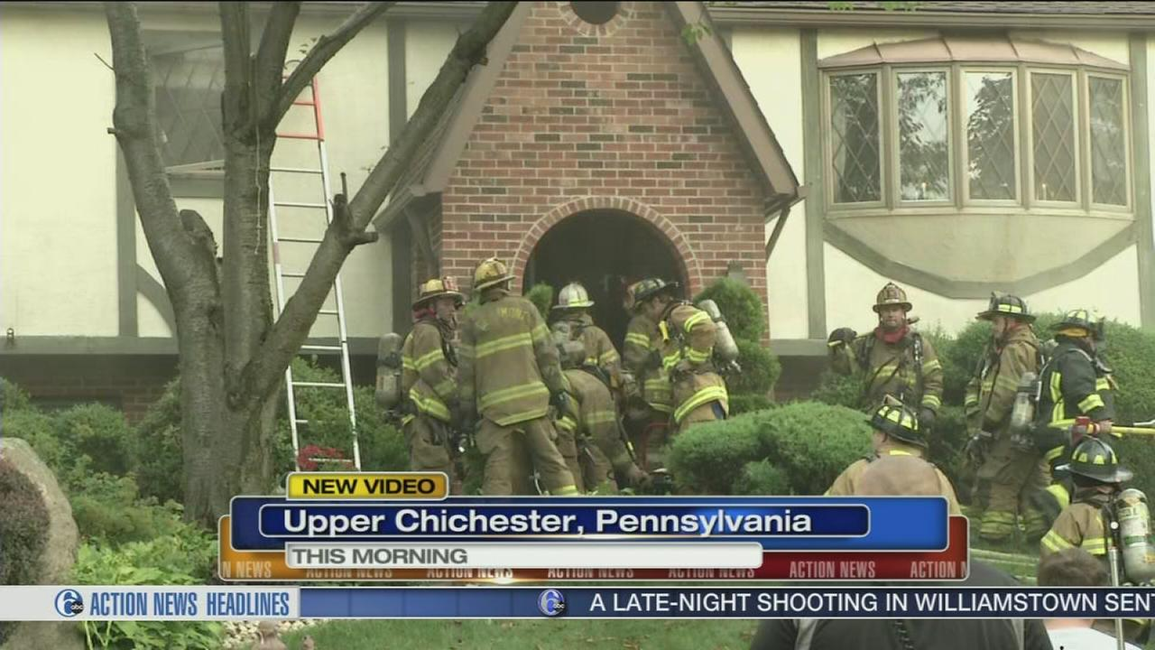 VIDEO: Fire at home in Upper Chichester