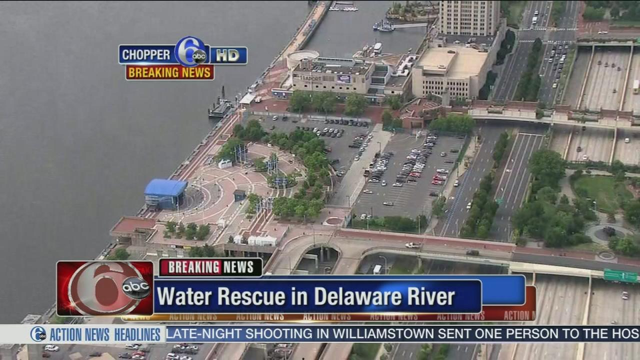 VIDEO: Woman rescued from Delaware River
