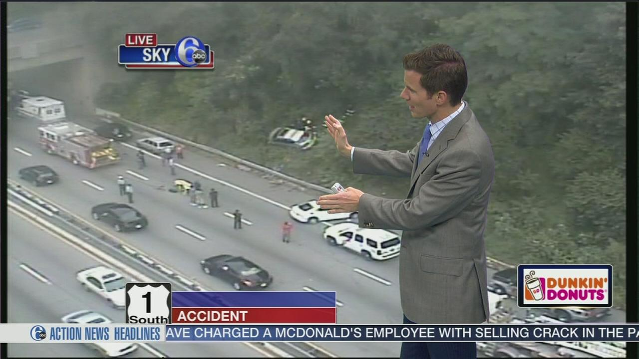 VIDEO: Multi-vehicle crash on Route 1 South