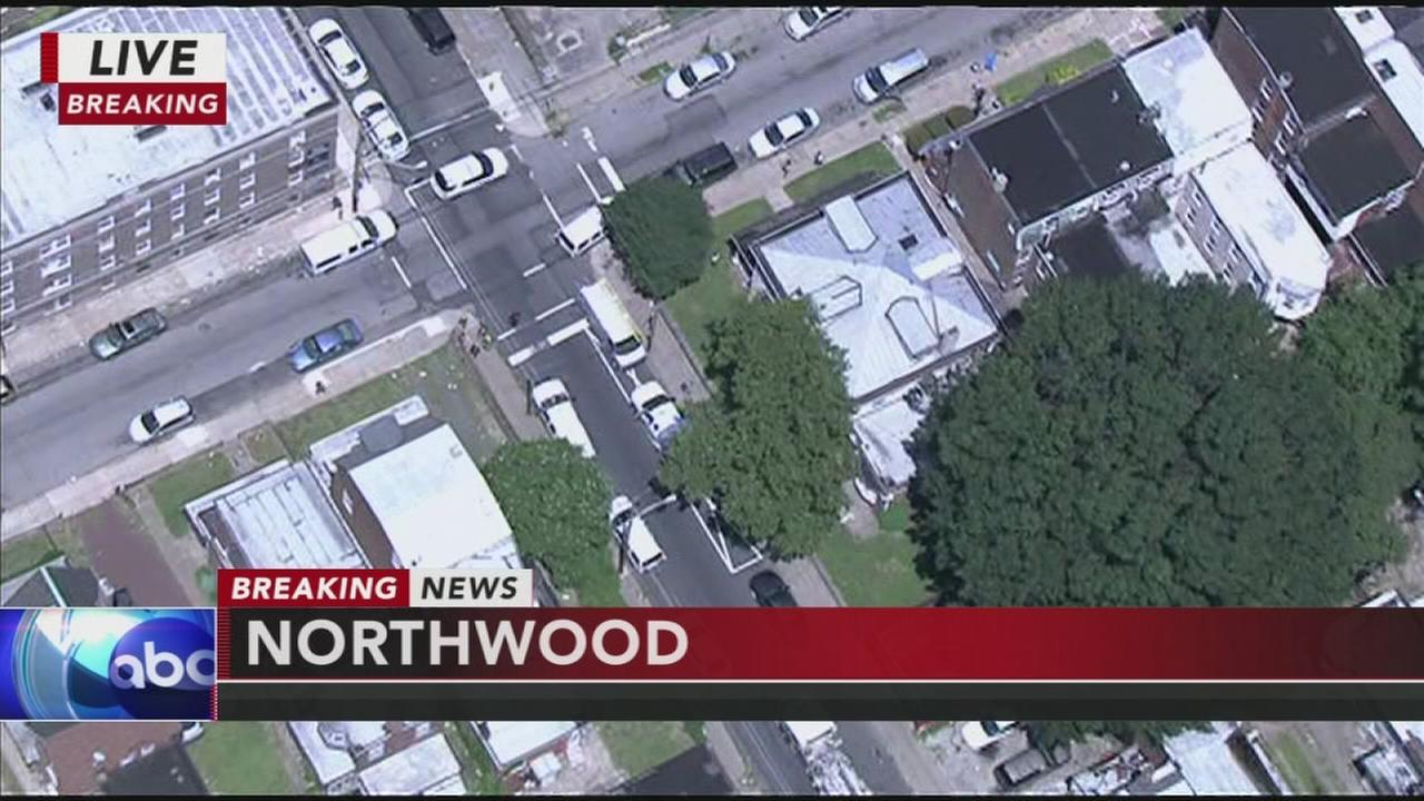 Barricade situation in Northwood