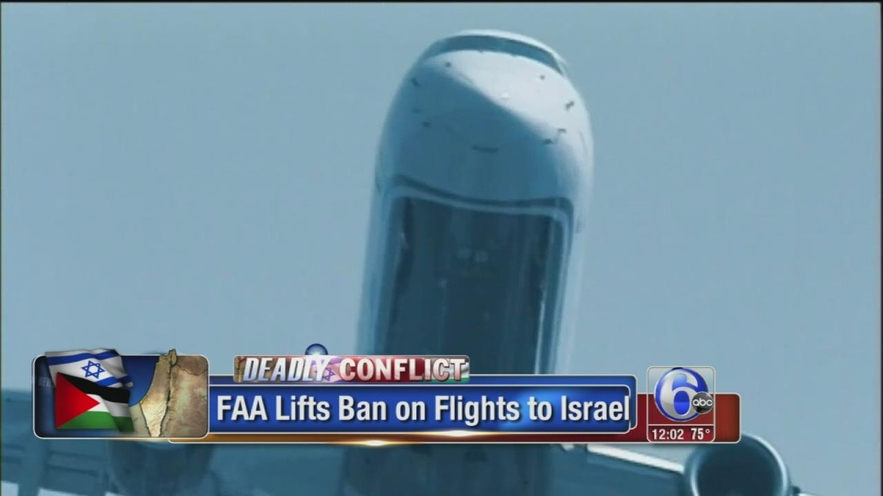 VIDEO: FAA lifts ban on US flights to Tel Aviv
