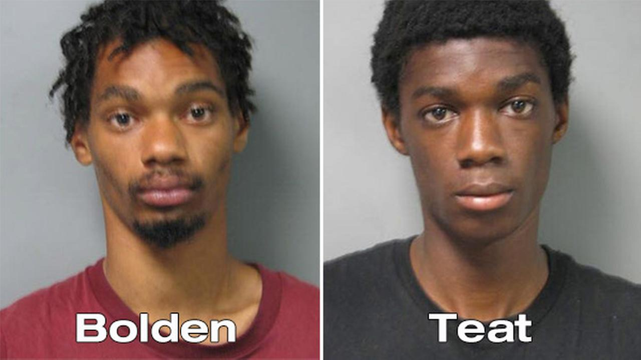 19-year-old Shaquille Bolden and 18-year-old Kinon Teat are wanted for attempted murder after allegedly stabbing a 20-year-old man in the chest during a large fight.