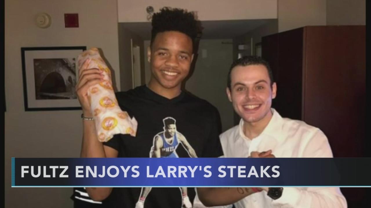 Fultz enjoys Larrys Steaks
