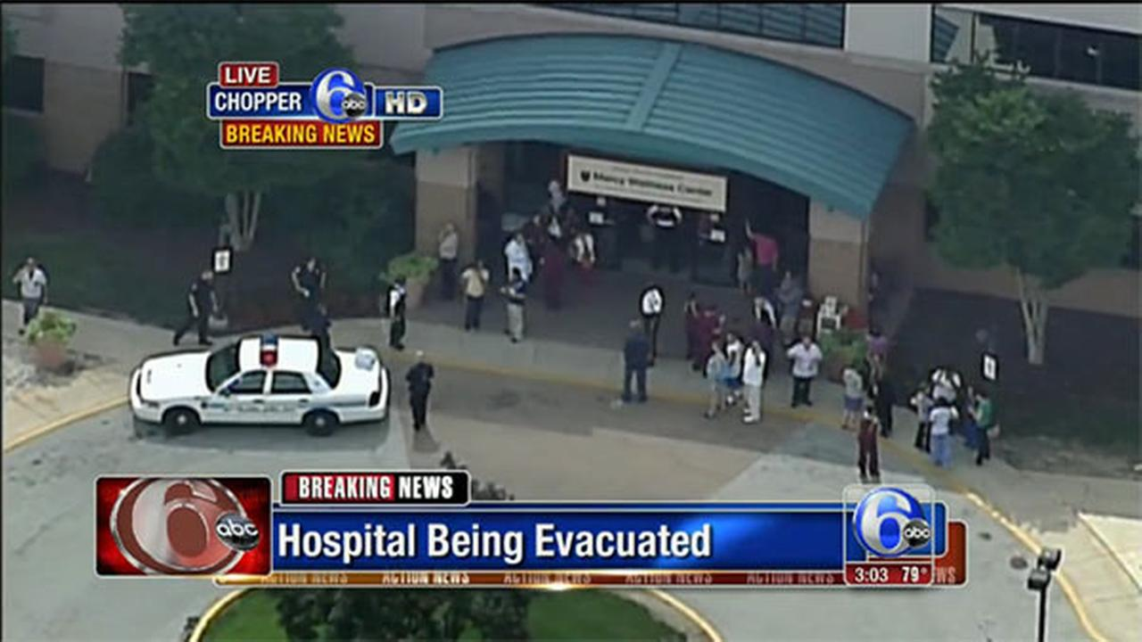 3 shot on campus of hospital in Delaware County; 1 in custody