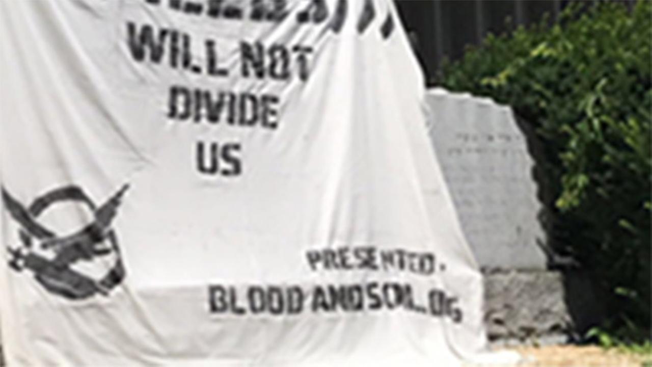 Vandals post anti-Jewish banner at Holocaust memorial