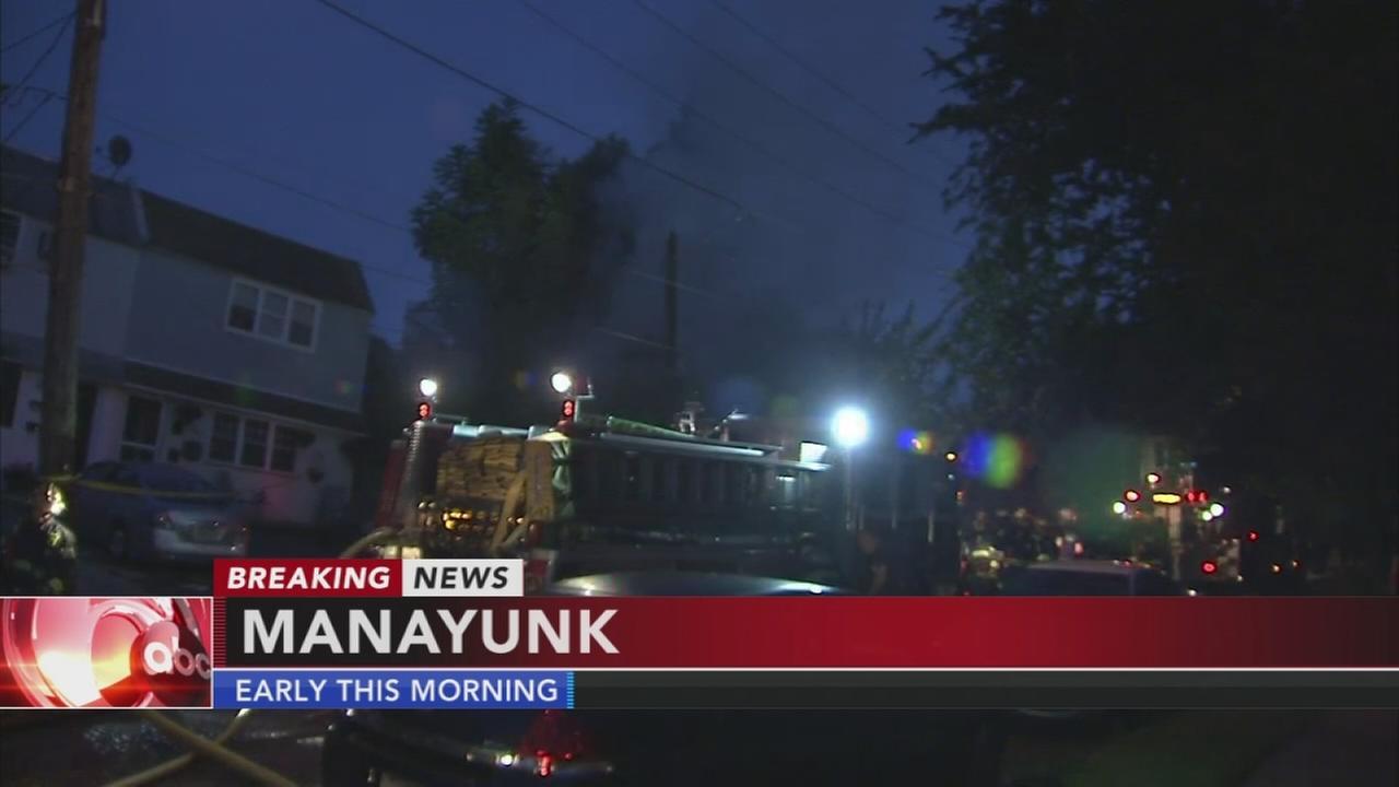Garage fire in Manayunk