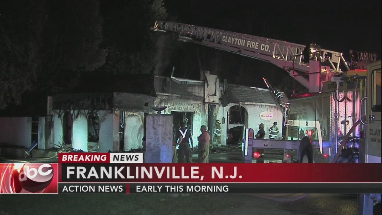 Fire in Franklinville, NJ