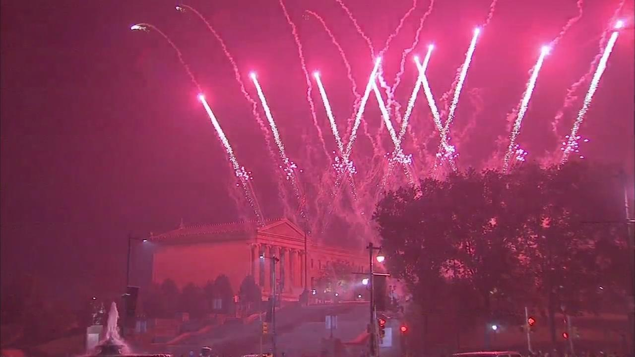 VIDEO: July 4th capped with fireworks over the Art Museum