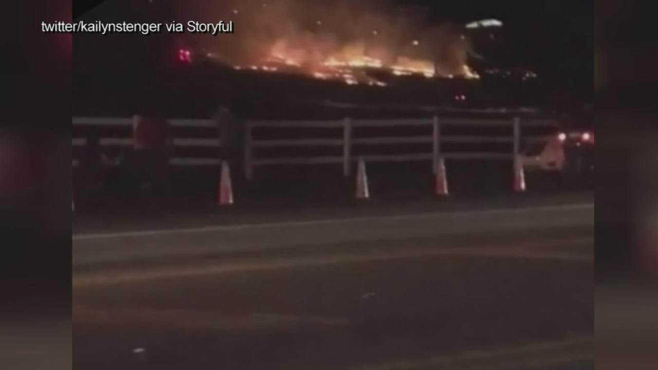 Fireworks at Hersheypark spark brush fire
