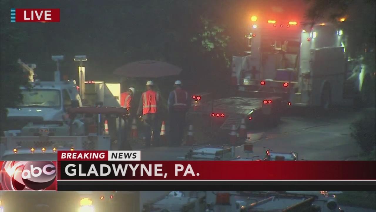 Underground fire in Gladwyne
