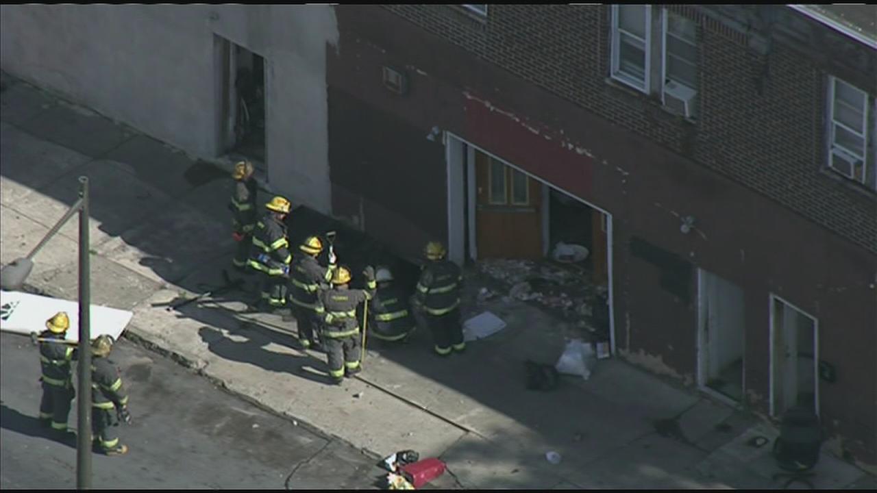 Woman falls several feet inside Feltonville house