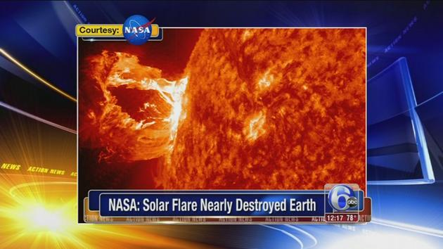VIDEO: Solar flare nearly destroyed Earth