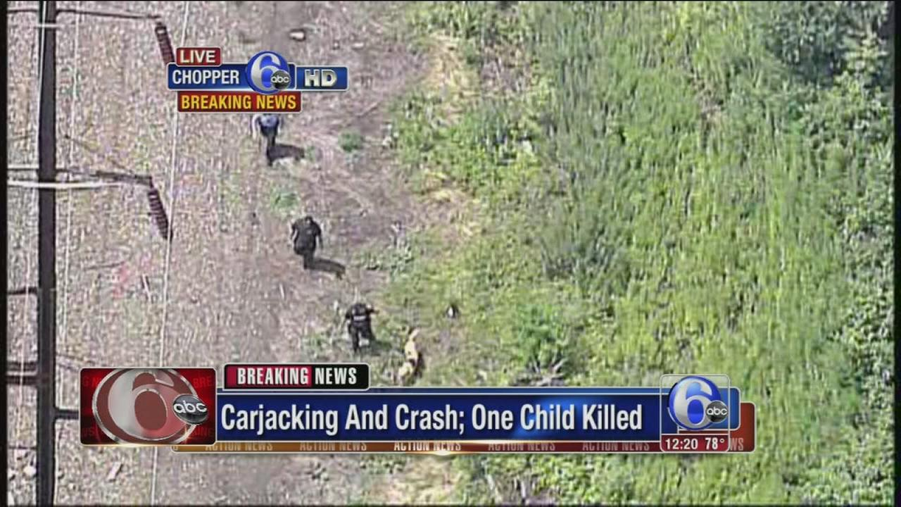 VIDEO: Child killed following carjacking, crash