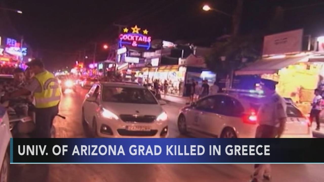 Univ. of Arizona grad killed in Greece
