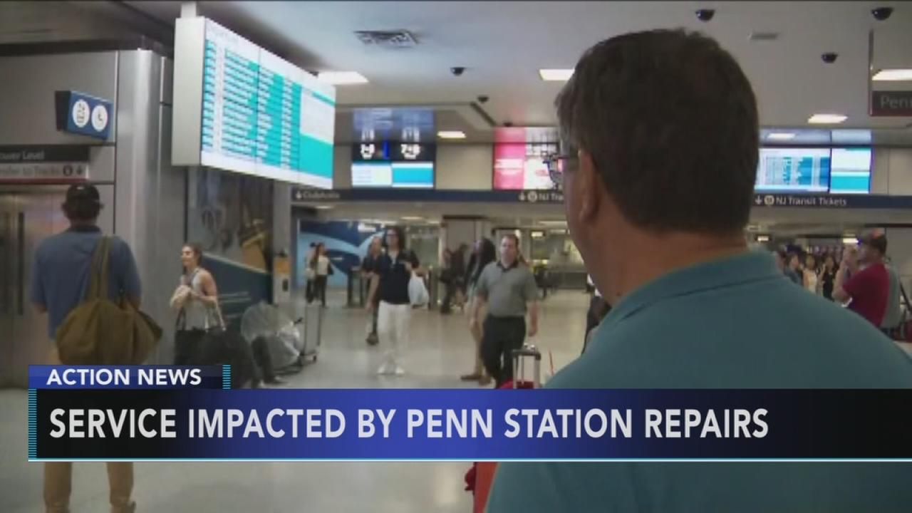 Service impacted by Penn Station repairs