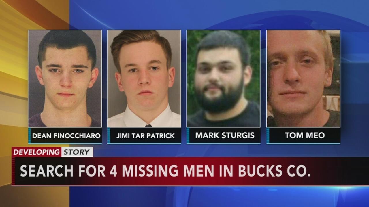Four men missing in Bucks Co.