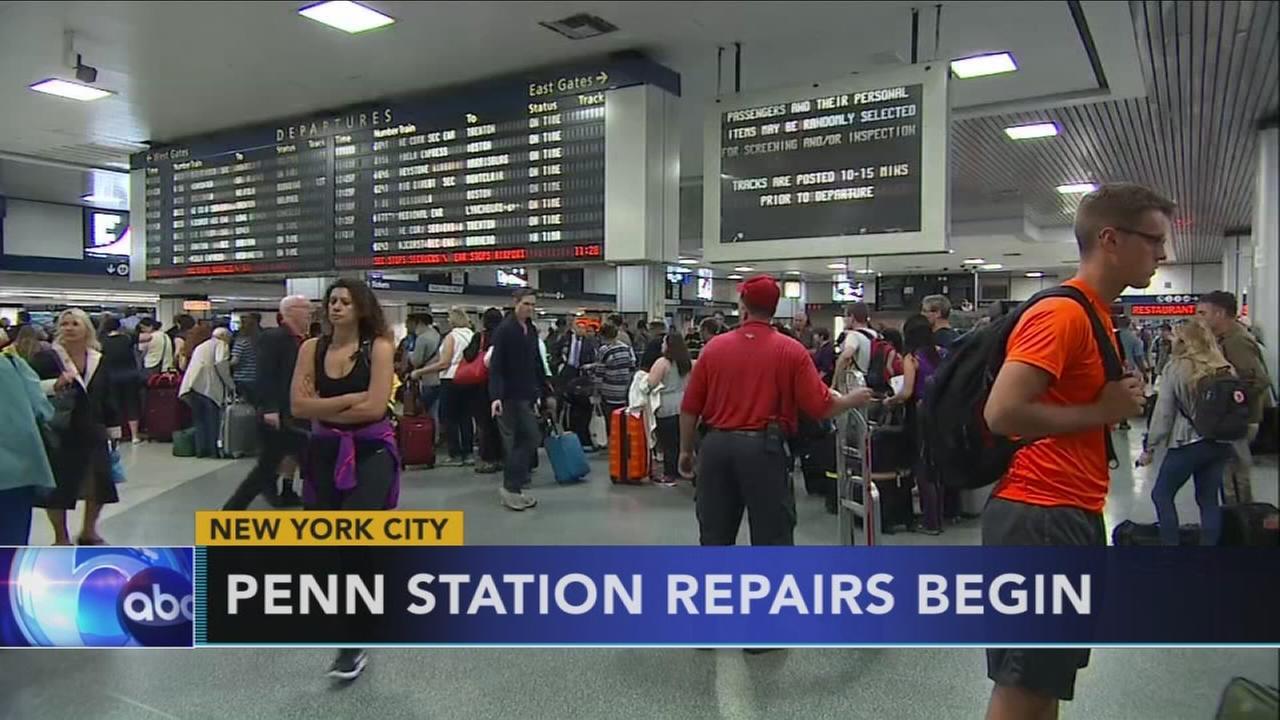 Repairs begin at Penn Station