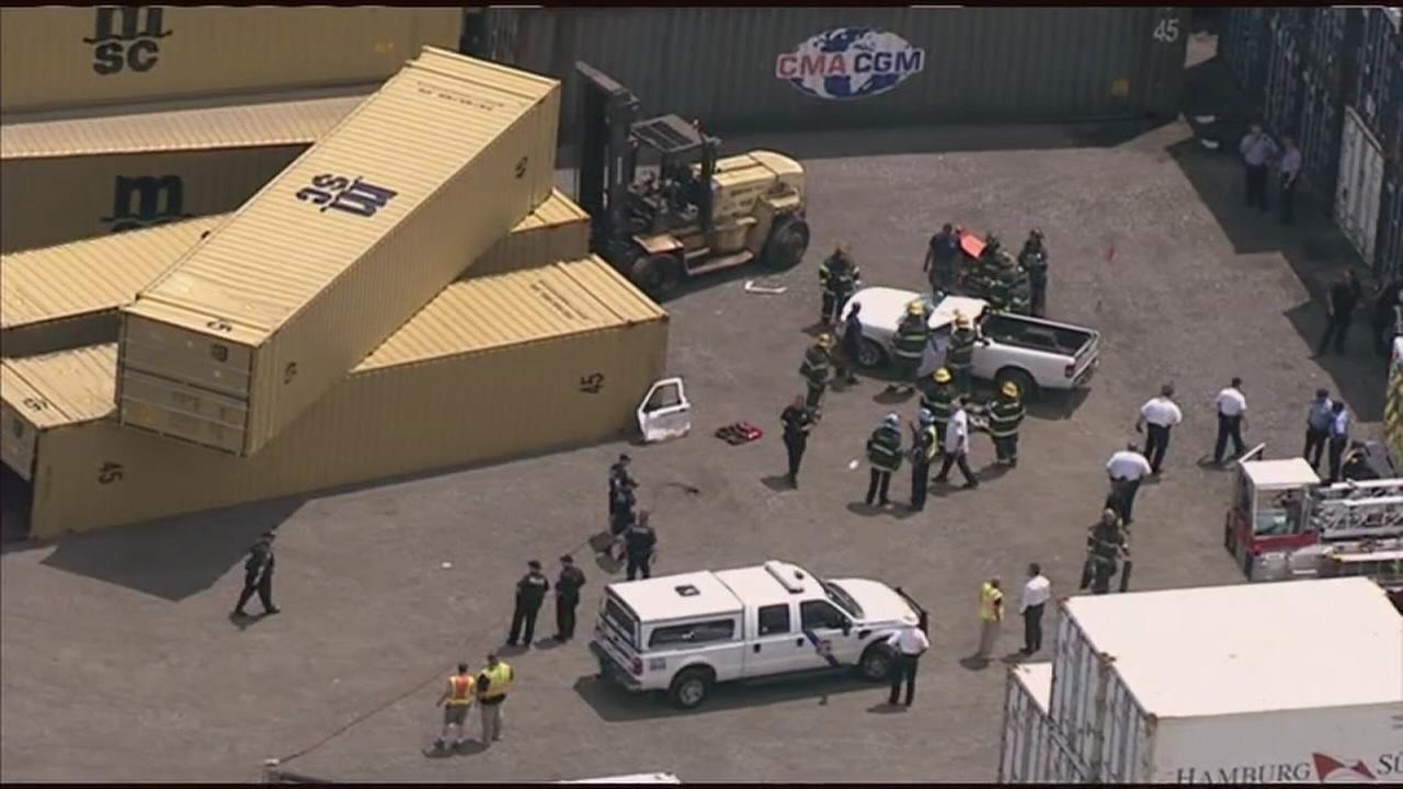 Falling cargo container kills man in South Philadelphia